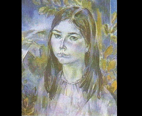 Boris Shamanov. Portrait of daughter. Oil. 1979
