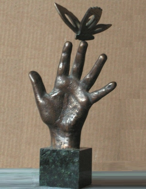 Childhood. Bronze, 2001. sculptor Vladimir Tishin