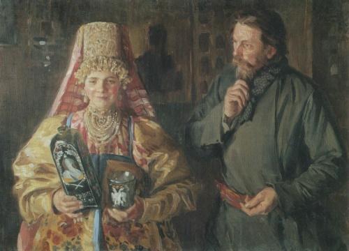 Soviet Russian artist Ivan Kulikov