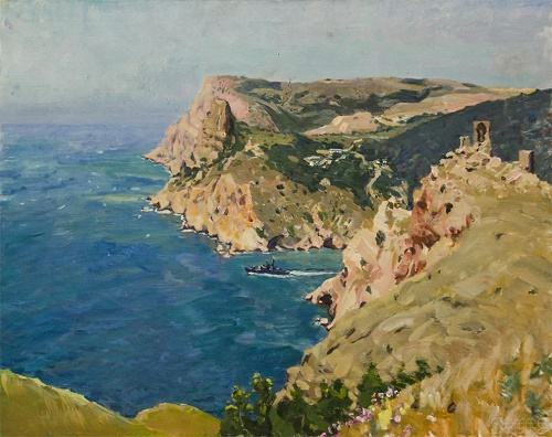 Crimean landscapes. Soviet painter Victor Kovalenko