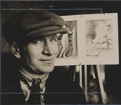 Father of sculptor Nikita-Gleb Lavinsky - Anton Lavinsky, also a sculptor. Photographer Alexandr Rodchenko