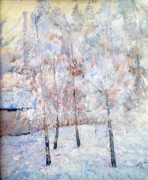 Frost. cardboard, oil. 1970s