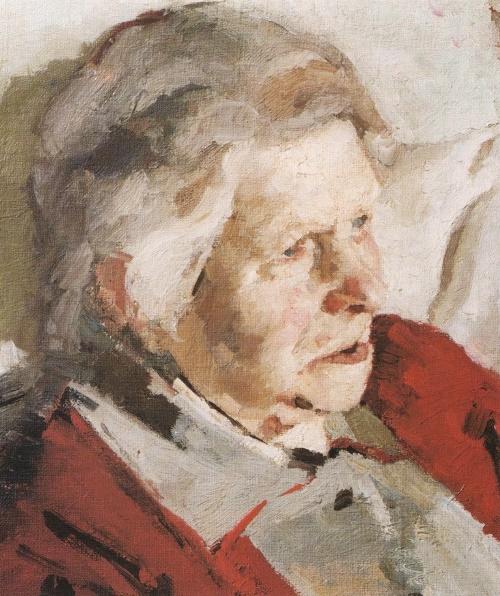 Grandmother of Oleg Shkurman. 1950. The property of the artist