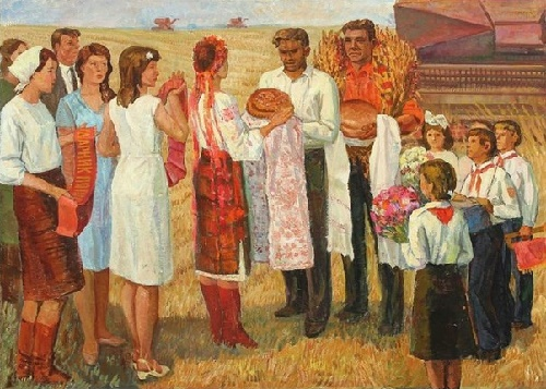 Harvest festival. Oil on canvas