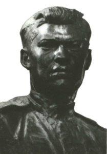 Sergeant M. Borisov. Plaster tinted. 1943