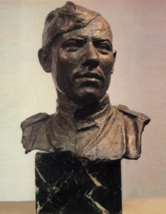 Portrait of Hero of the Soviet Union sergeant M.A. Yegorov (1923-1975). 1945. Bronze, granite