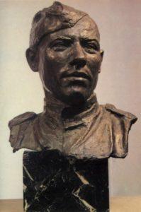 Portrait of Hero of the Soviet Union sergeant M.A. Yegorov (1923-1975). 1945. Bronze, granite