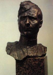 Hero of the Soviet Union sergeant M.V. Kantaria (1920-1993). 1945. Bronze, granite