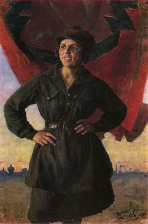 Ivan Kulikov (1875-1941). Yungshturm. Oil. 1929 Murom Branch of the State United Vladimir-Suzdal Museum Reserve
