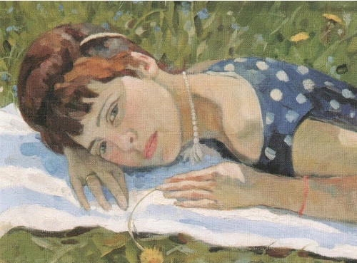 Katerina in the sun. 1962. The property of the artist