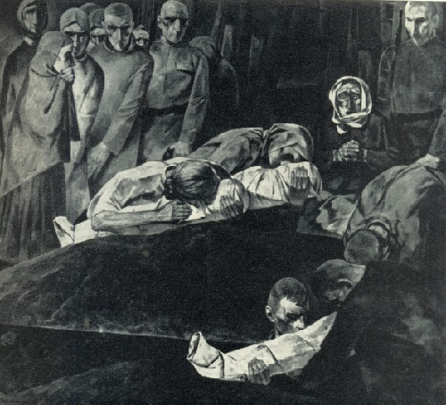 Lamenting the fallen heroes. 1974