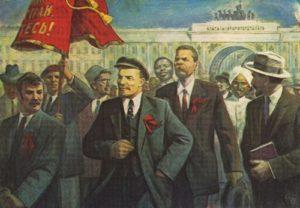 Gorky and Lenin at the parade
