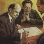 Vladimir Lenin with Sverdlov and Dzerzhinsky