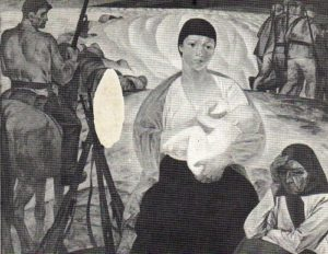 Fragment. Partisan Madonna. Oil. 1967