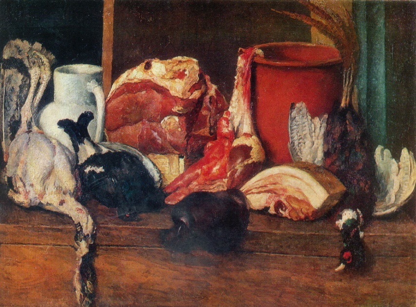 Meat and poultry still life. 1924
