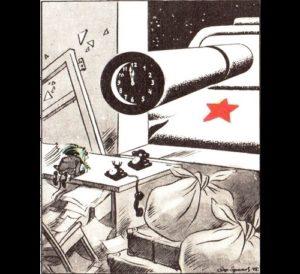 Midnight nightmare of Goebbels. Soviet political cartoonist Boris Yefimov