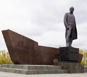 Monument to Soviet politician Leonid Krasin in Kurgan. Bronze. 1978