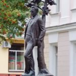 Monument to the Soviet poet Mikhail Isakovsky in Smolensk