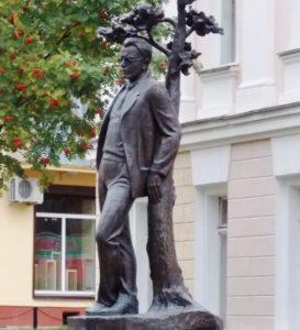 Monument to the Soviet poet Mikhail Isakovsky in Smolensk