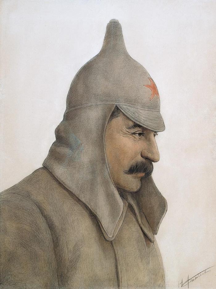 Nikolay Filippov (b.1940). Portrait of Stalin.