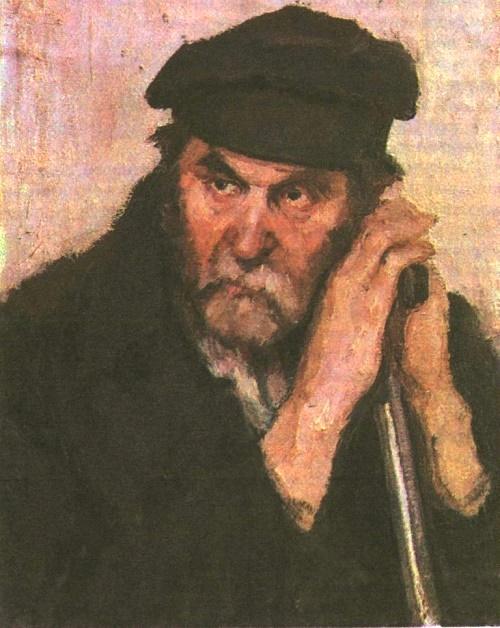 O. Savostyuk. Portrait of the artist's model. Oil. 1947