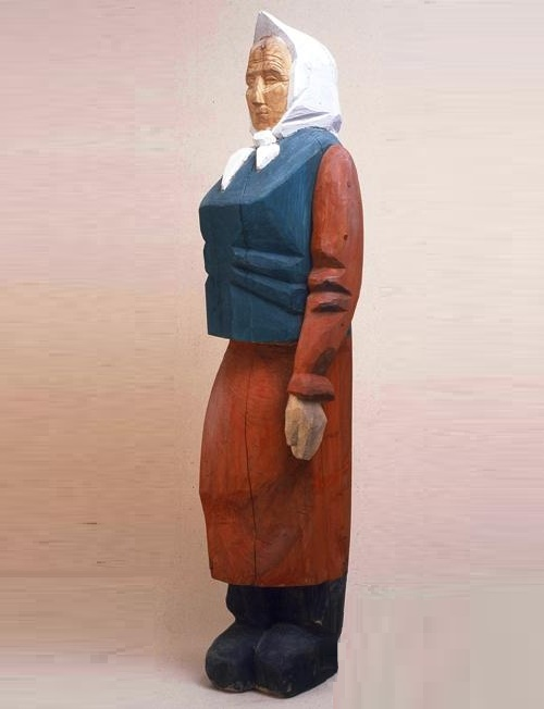 Old Woman. 1990. Wood