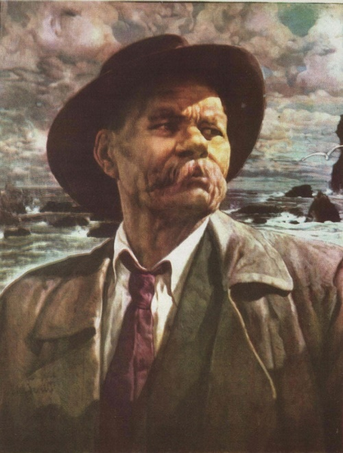 Portrait of AM Gorky. Oil. 1936