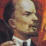 Portrait of Lenin speaking