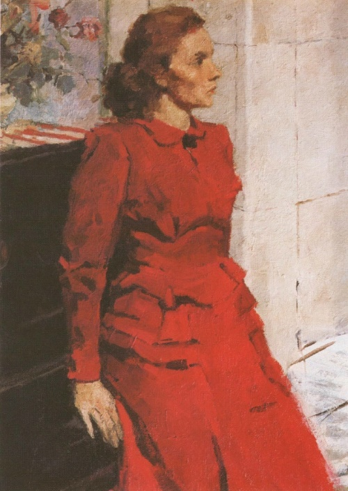 Portrait of N. Aleinikova. 1950. The property of the artist