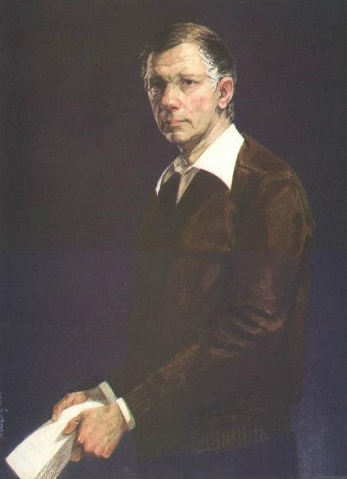 Portrait of the writer Vasil Bykov