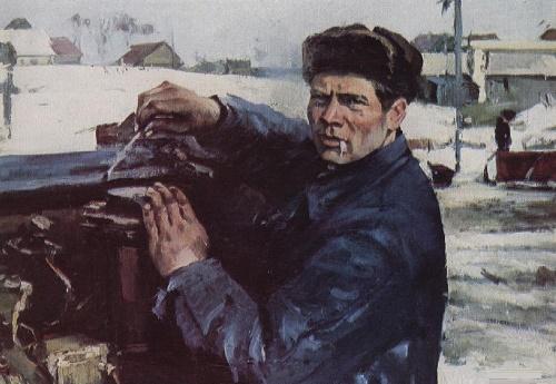 Portrait of tractor driver Matvienko