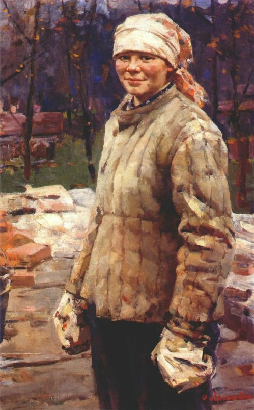 Road worker Nina. 1954