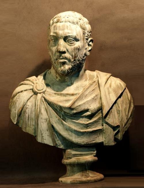Roman self-portrait. 2008. Bronze