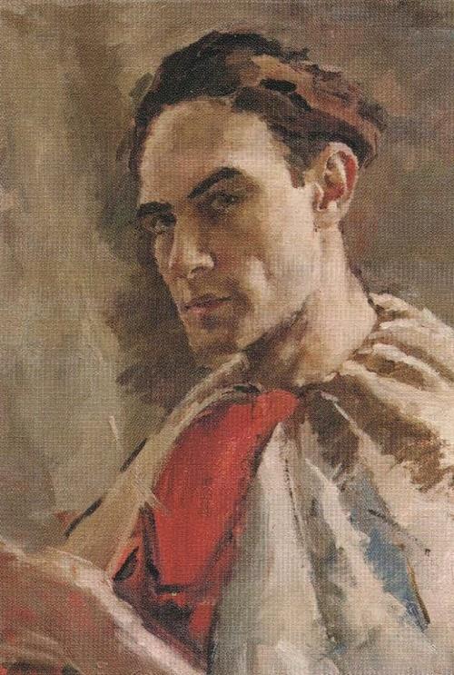 Soviet painter Andrei Gorsky (17 April 1926 - 22 September 2015). Self-portrait. 1949. The State Tretyakov Gallery, Moscow