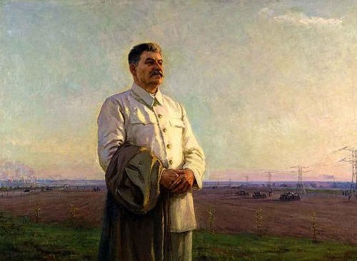 The image of Stalin in the Soviet art. Fyodor Shurpin. The morning of our country. 1946-1948. The State Tretyakov Gallery