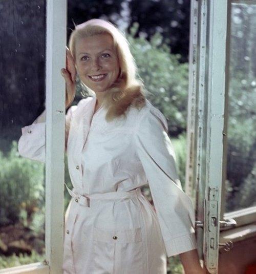 Soviet Latvian actress Vija Artmane