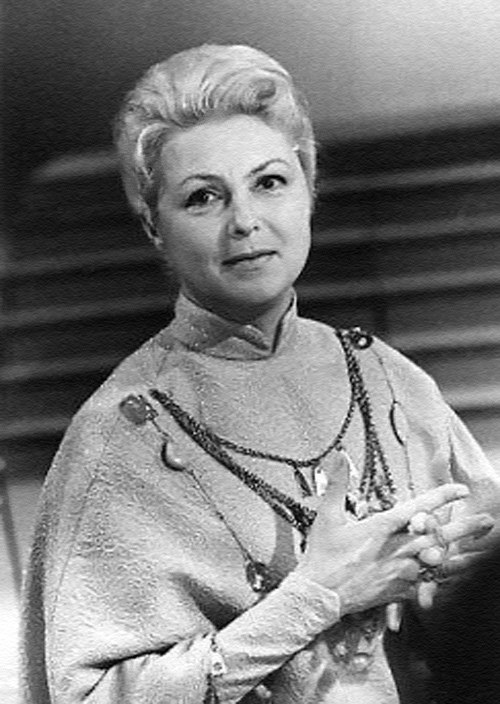 Soviet Latvian actress Vija Artmane