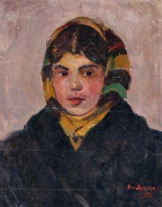 Post-war paintings by Soviet artist Vitaly Davydov