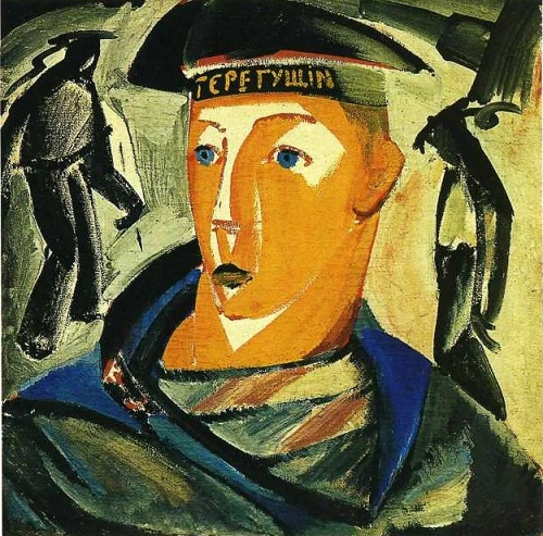 Soviet artist Constructivist Vladimir Tatlin. Seaman (Self-portrait). Tempera on wood. The State Russian Museum, St. Petersburg