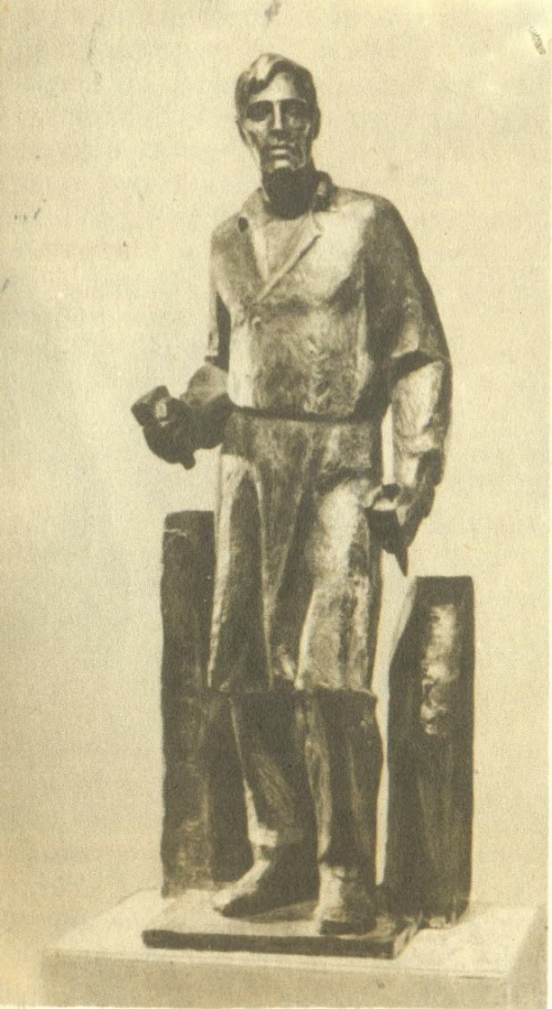 Sketch of the monument to the sculptor I. Shadr in Shadrinsk. Bronze