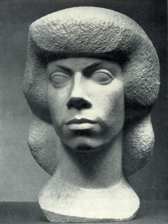 Daughter's portrait. 1974. Marble