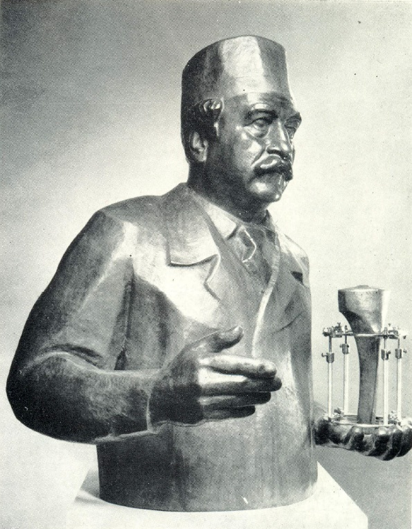 Doctor of Medical Sciences, Director of the Kurgan Research Institute of Experimental and Clinical Orthopedics and Traumatology G.A. Ilizarov. 1975. Forged copper