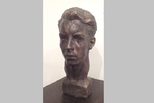 Elder brother Dmitry. 1951. Soviet sculptor Yuri Chernov