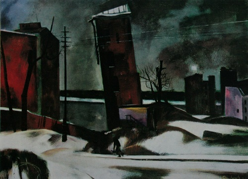 Leningrad in 1941. Oil. 1974