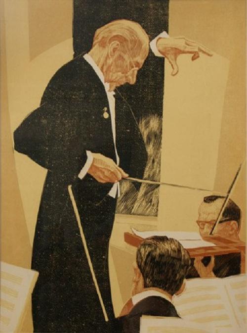 Soviet graphic artist David Borovsky