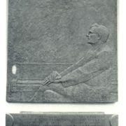 Memorial plaque of Dmitry Shostakovich. 1977. Bronze