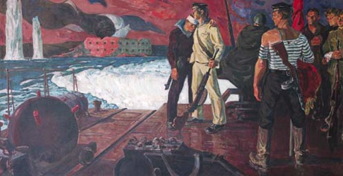 Sevastopol in WWII. 1972. Oil on canvas