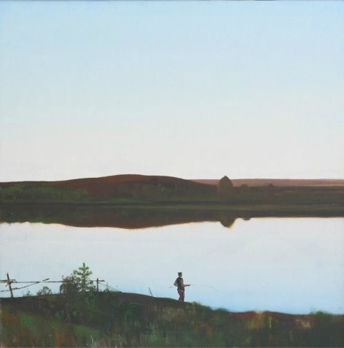 Silence. 1983. Painting by Soviet artist Andrei Mylnikov (22 February, 1919 – 17 May, 2012)