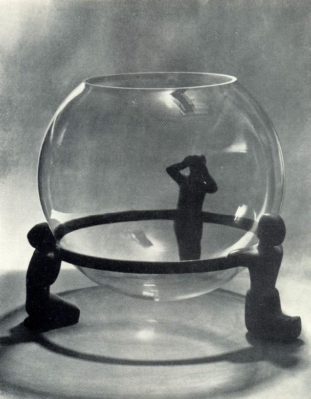 Stand under the aquarium. 1966. Bronze