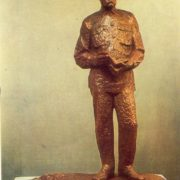 Twice hero of socialist labor T.S. Maltsev. Bronze
